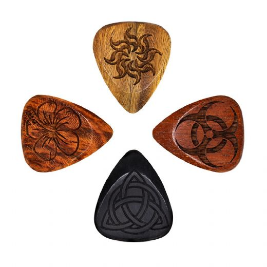 Laser Tones Mixed Pack of 4 Guitar Picks
